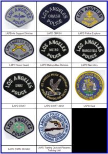 Распознавательные знаки в полиции Лос-Анджелеса