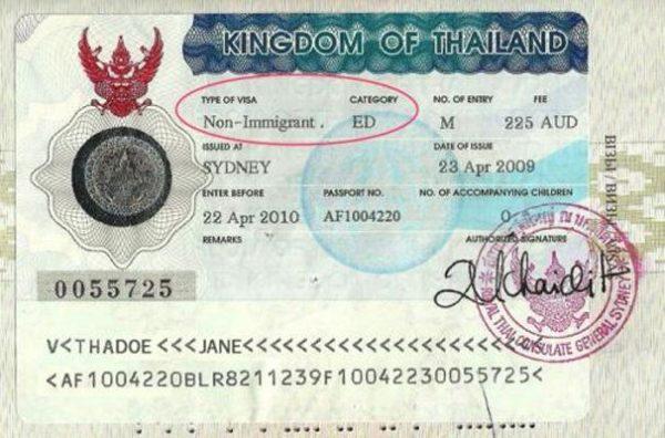 Виза Non-immigration