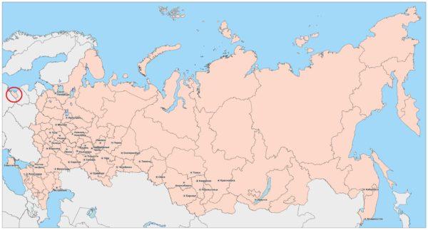 Карта России. Калининград на карте