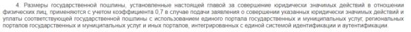 Пункт 4 статьи 333.35 Налогового кодекса Российской Федерации