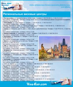 Региональные визовые центры