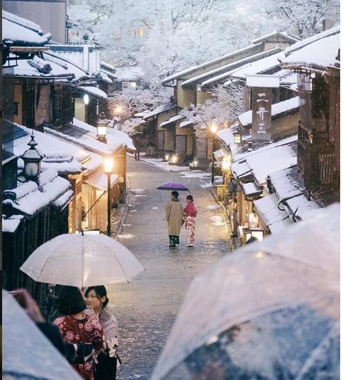 Зима в Японии