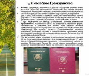 Документы для литовского гражданства