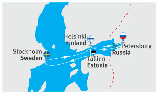 Морские круизы из Санкт-Петербурга по Балтийскому морю на пароме Princess Anastasia - это прекрасная возможность отдохнуть и отлично провести время