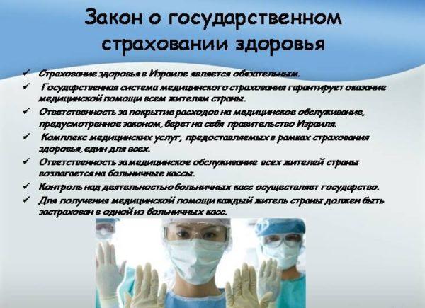 Закон о государственном страховании здоровья