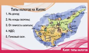 Какого типа могут быть налоги на Кипре