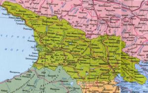 Подробная карта Грузии
